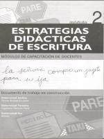 Módulos de Capacitación de Docentes. Módulo 2: Estrategias didácticas de escritura