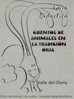 Cuentos de animales en la tradición oral. Valle del Chota. Guía didáctica