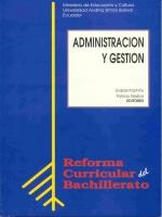 Administración y gestión. Reforma Curricular del Bachillerato