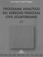 Programa analítico de derecho procesal civil ecuatoriano