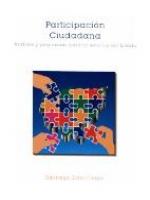 Participación ciudadana: análisis y propuestas para la reforma del Estado