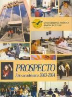 Prospecto año académico 2003-2004