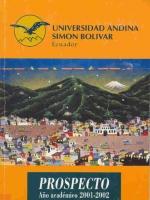 Prospecto año académico 2001-2002