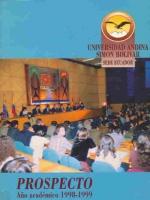 Prospecto año académico 1998-1999