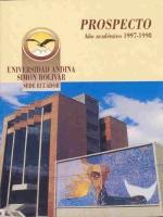 Prospecto año académico 1997-1998