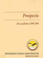 Prospecto año académico 1995-1996
