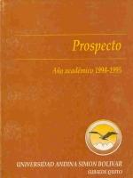 Prospecto año académico 1994-1995