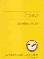 Prospecto año académico 1993-1994