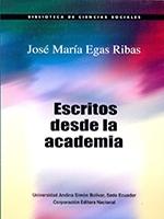 José María Egas Ribas, Escritos desde la academia