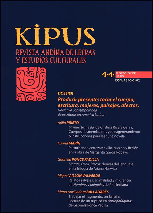 Kipus: revista andina de letras y estudios culturales
