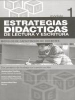 Módulos de Capacitación de Docentes. Módulo 1: Estrategias didácticas de lectura y escritura
