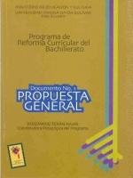 Propuesta general. Reforma Curricular del Bachillerato