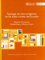 Tipología de microrregiones de las áreas rurales del Ecuador