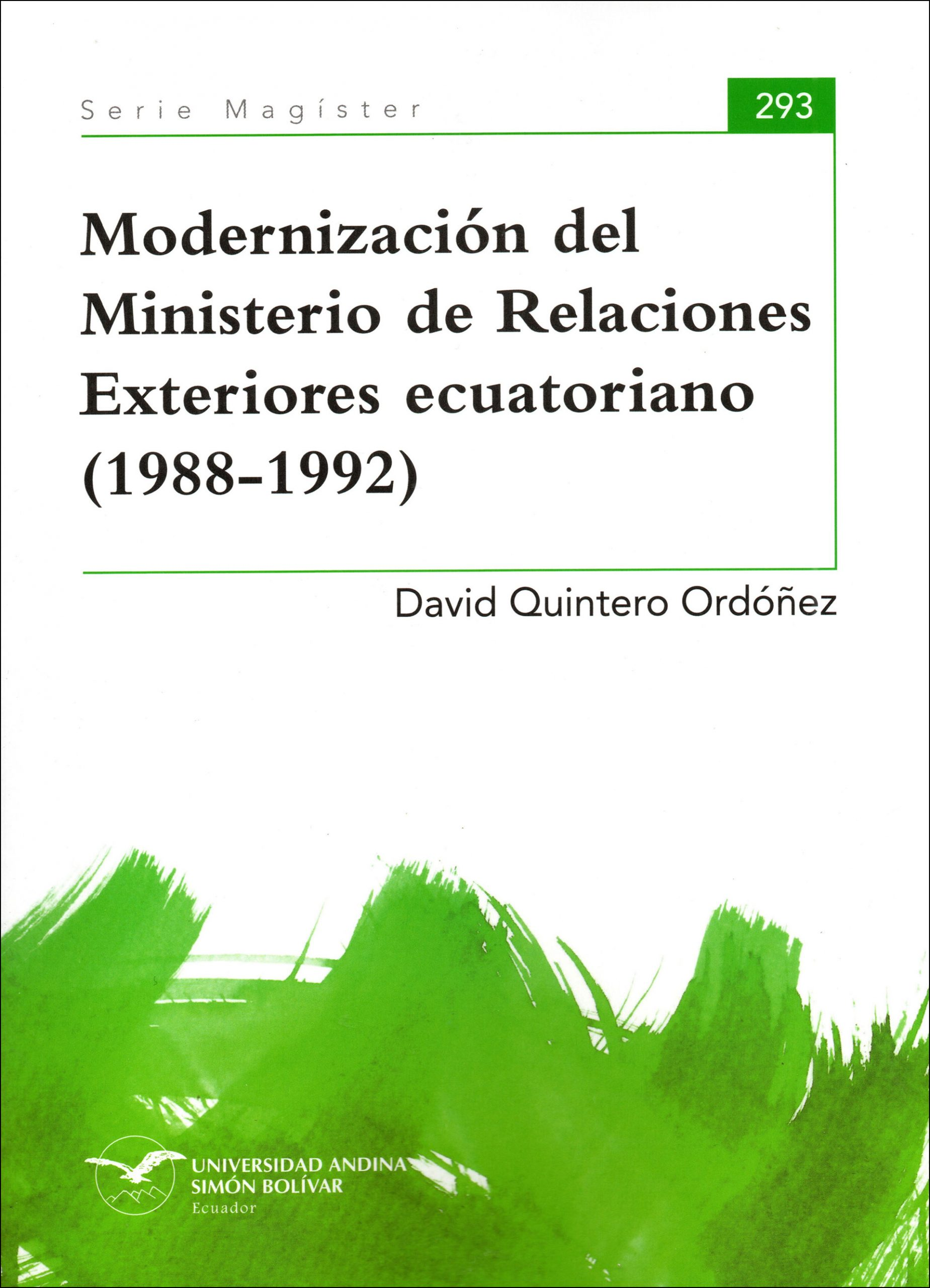 Modernización del Ministerio de Relaciones Exteriores ecuatoriano (1988-1992)