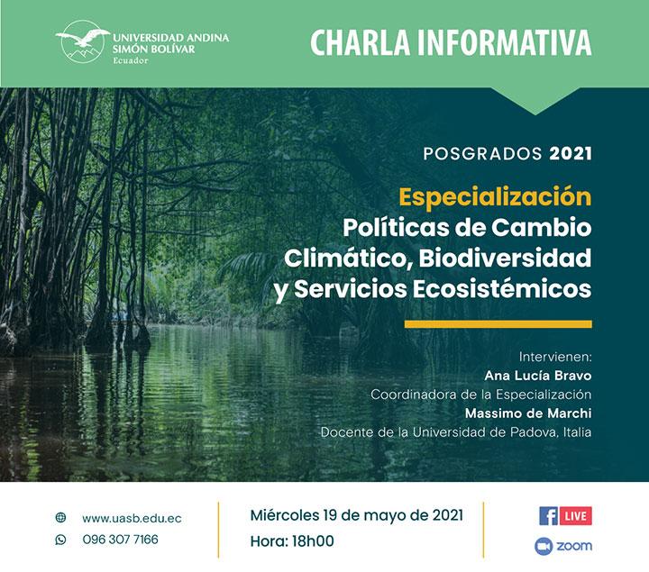 Especialización Políticas de Cambio Climático, Biodiversidad y Servicios Ecosistémicos