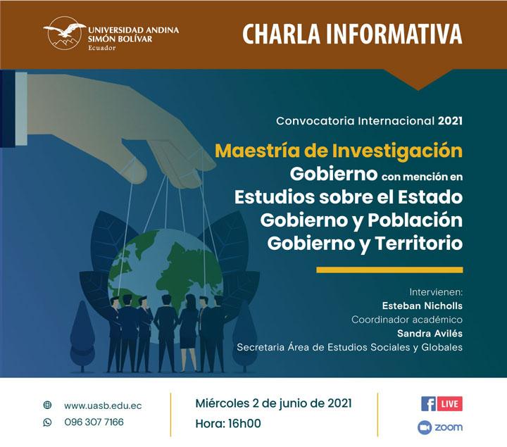 Charla informativa sobre la Maestría de Investigación en Gobierno