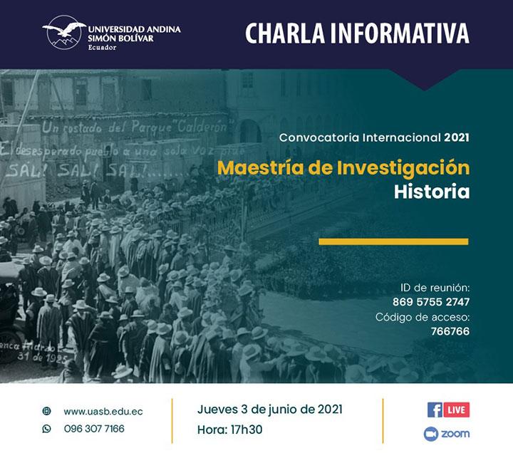 Charla informativa sobre la Maestría de Investigación en Historia
