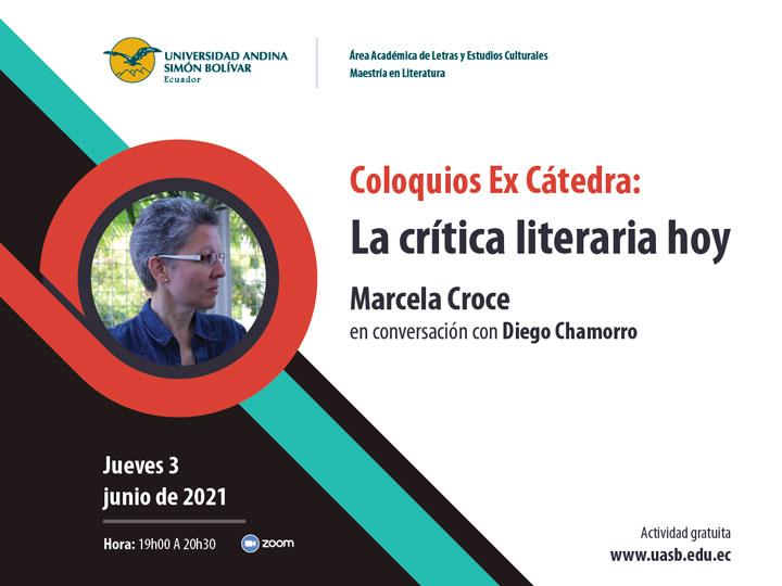 """Marcela Croce en Coloquios Ex Cátedra """"La crítica literaria hoy"""""""