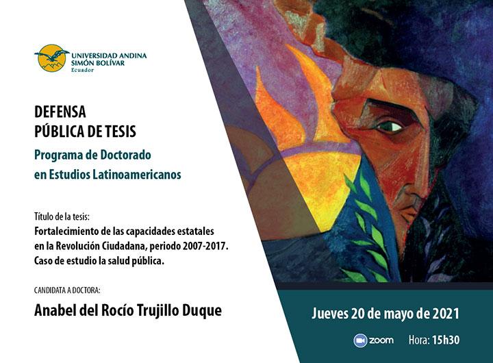 Defensa pública de tesis de Anabel Trujilo