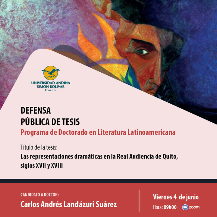 Defensa pública de tesis doctoral en Literatura Latinoamericana: Carlos Landázuri