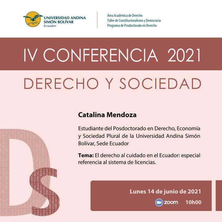 IV Conferencia Derecho y Sociedad 2021