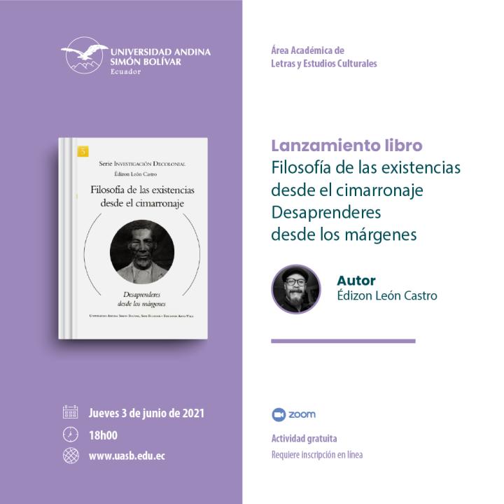 """Lanzamiento del libro """"Filosofía de las existencias desde el cimarronaje"""""""