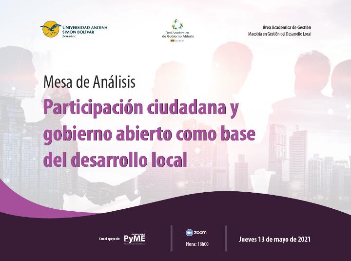 Agenda mesa analisis