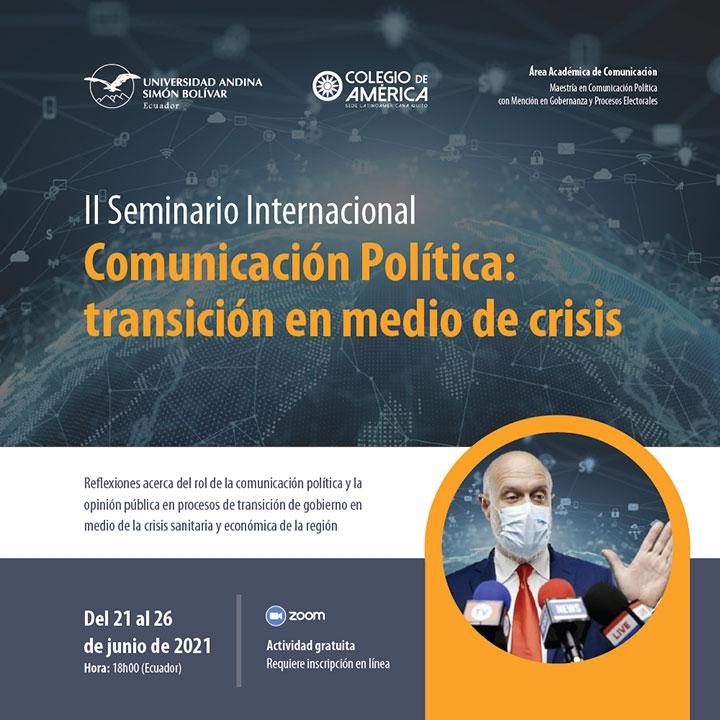 """I Seminario Internacional """"Comunicación Política: transición en medio de crisis"""""""