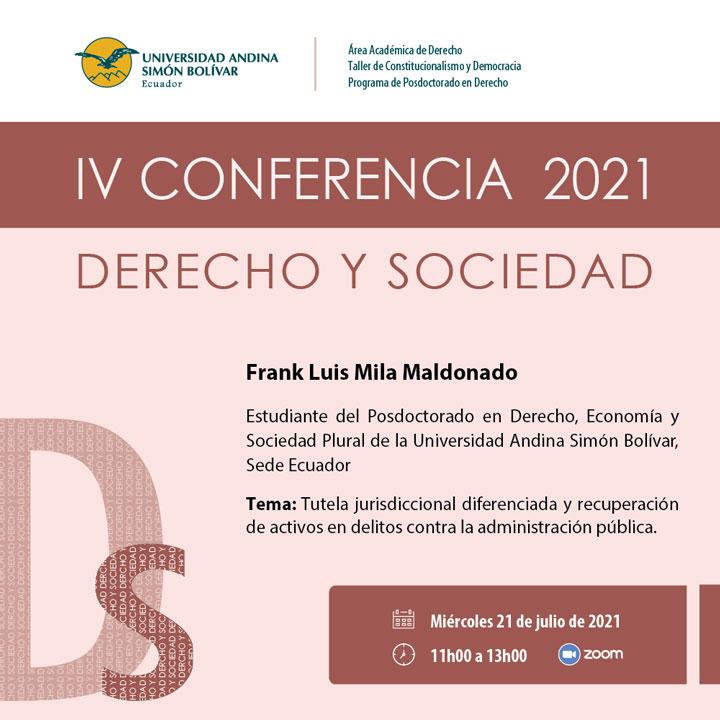 V Conferencia Derecho y Sociedad 2021