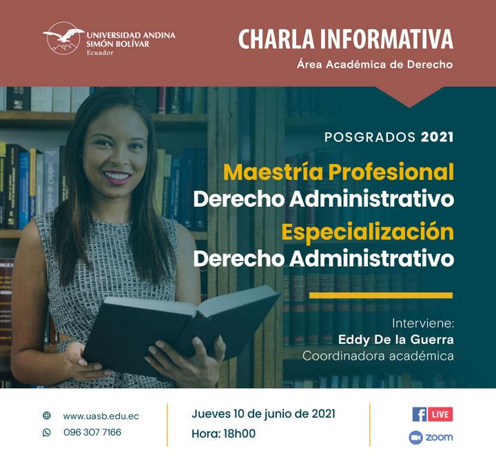 Charla informativa sobre la Maestría Profesional y la Especialización en Derecho Administrativo