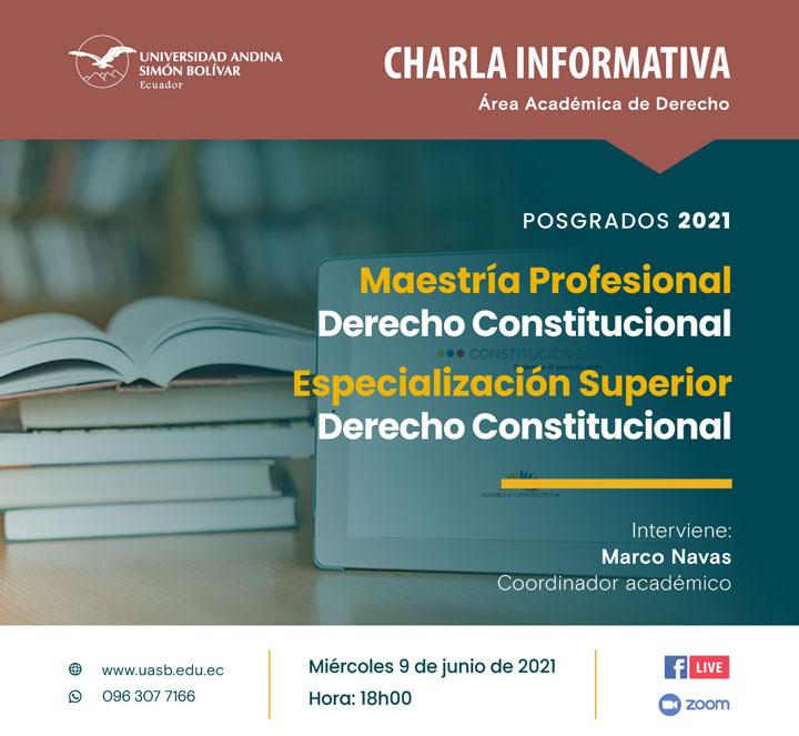Charla informativa sobre la Maestría y Especialización en Derecho Constitucional