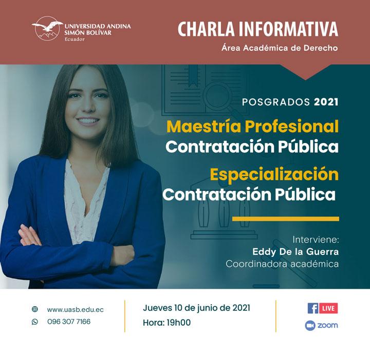 Charla informativa sobre la Maestría Profesional y la Especialización en Contratación Pública