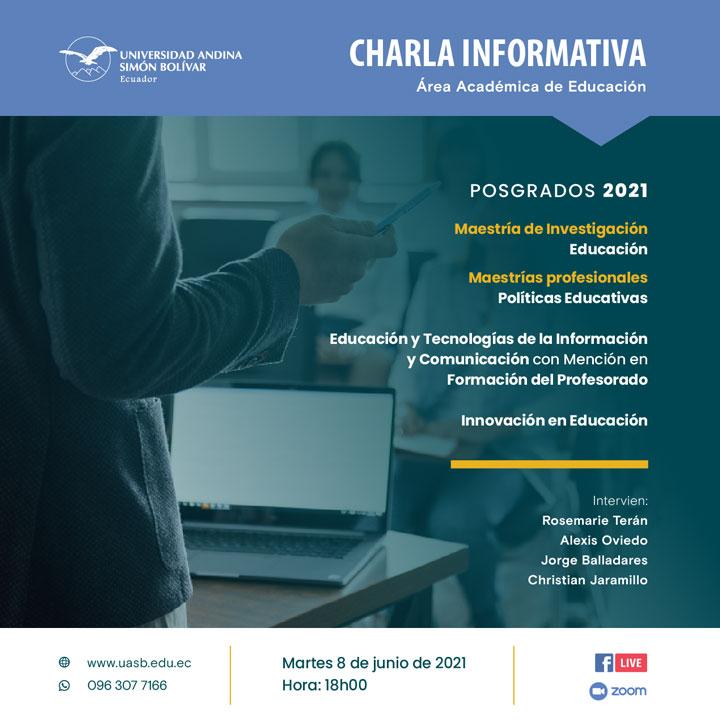 Charla informativa sobre los posgrados del Área de Educación