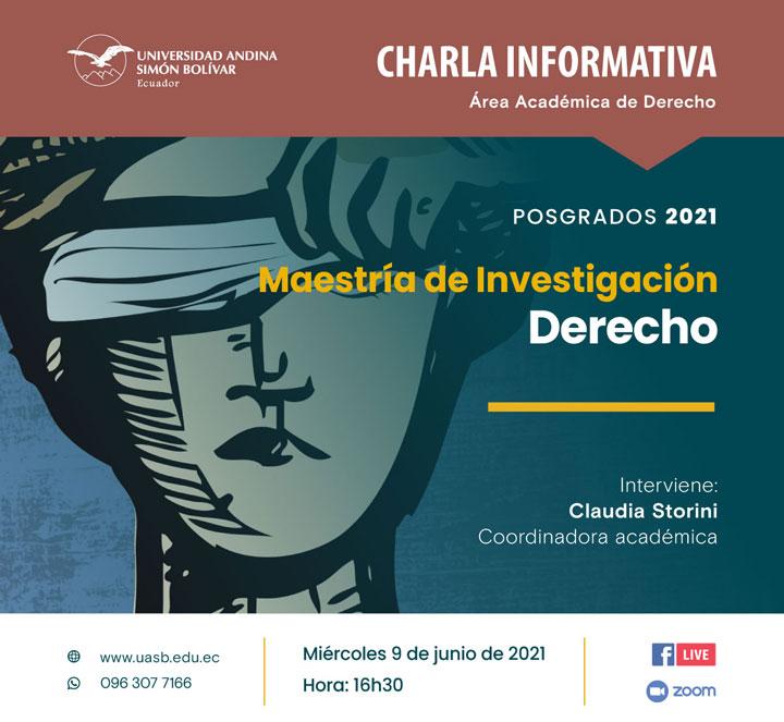 Charla informativa sobre la Maestría de Investigación Derecho