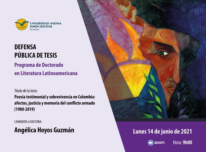 Defensa pública de tesis doctoral en Literatura: Angélica Hoyos