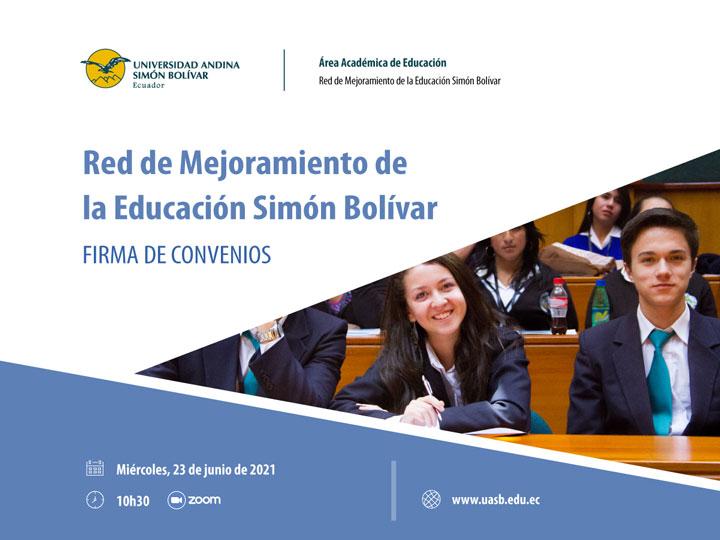 Firma de convenio para el mejoramiento de la educación