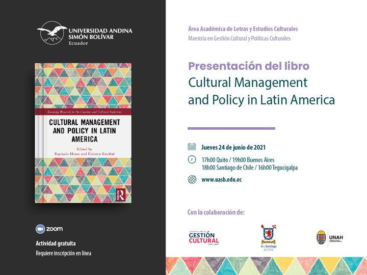 Presentación del libro Cultural Management and Policy in Latin America