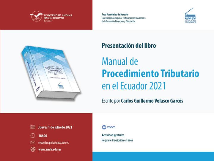 Presentación del libro Manual de Procedimiento Tributario en el Ecuador 2021
