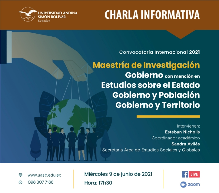 Charla informativa sobre la Maestría en Gobierno