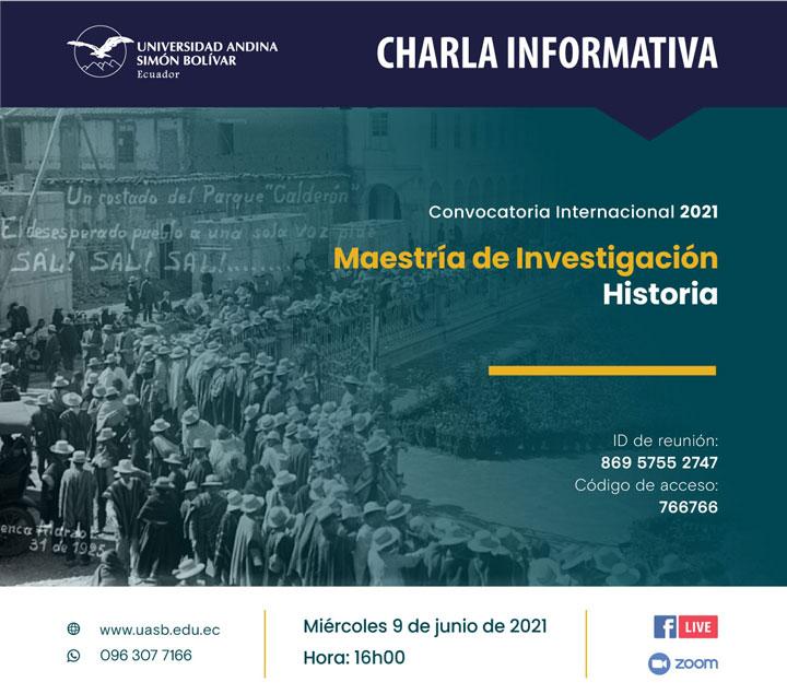 Segunda charla informativa sobre la Maestría de Investigación en Historia