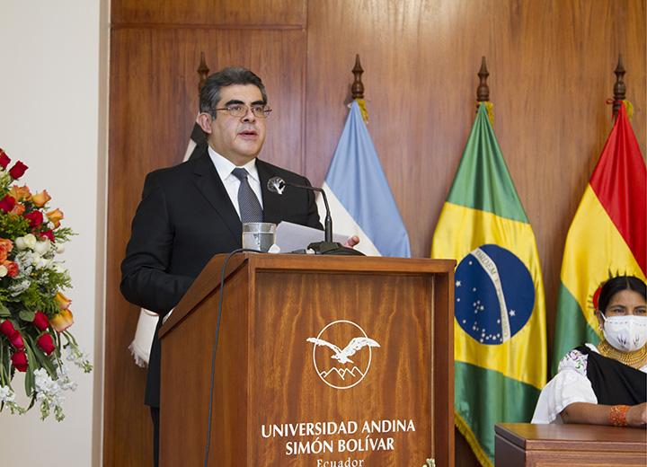 Discurso del Rector en la ceremonia por el Natalicio de Simón Bolívar