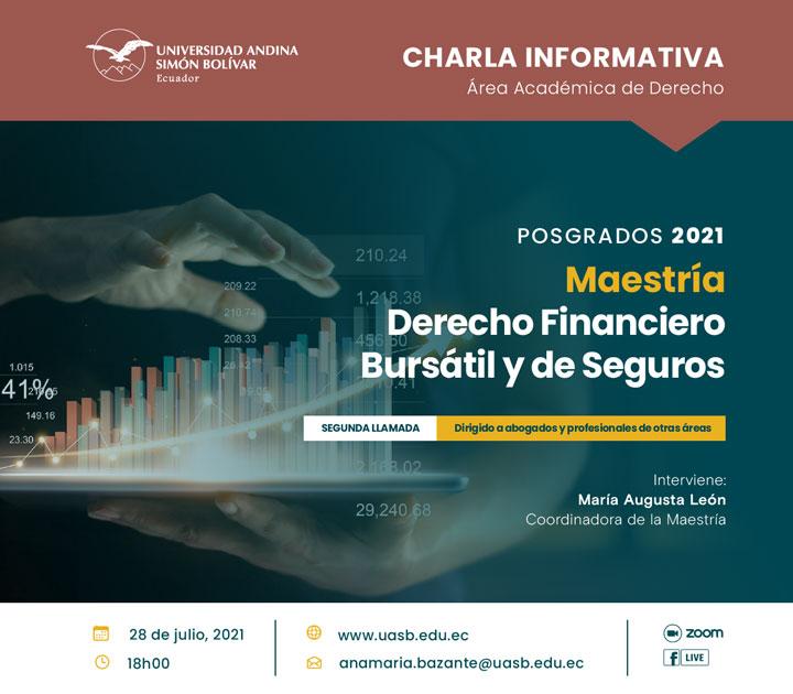 Charla informativa sobre la Maestría en Derecho Financiero Bursátil y de Seguros