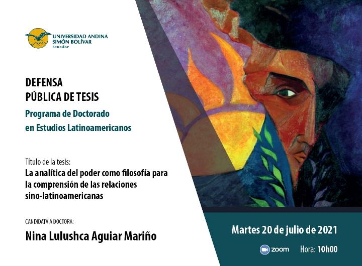 Defensa pública de tesis doctoral en Estudios Latinoamericanos: Nina Aguiar