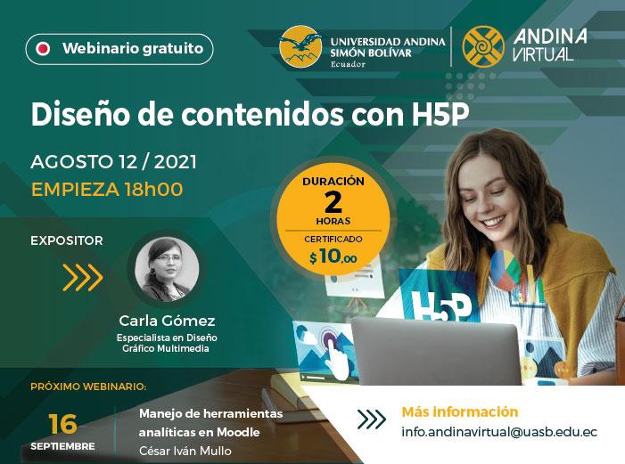 """Webinario """"Diseño de contenidos con H5P"""""""