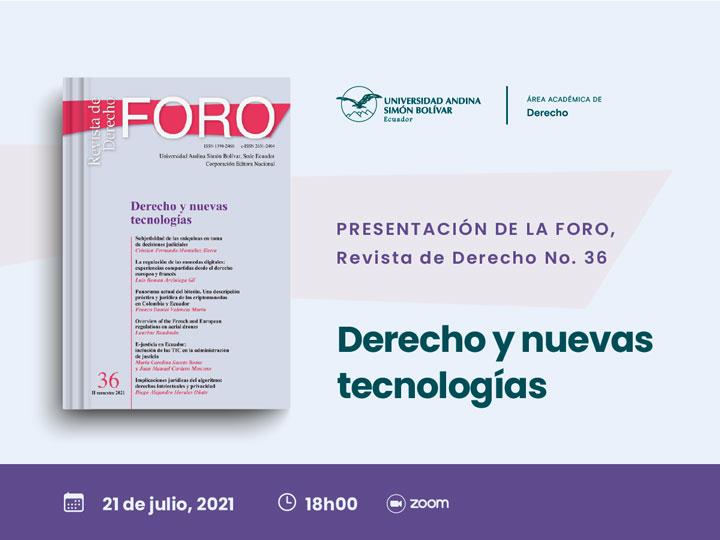 Presentación de Foro. Revista de Derecho, número 35