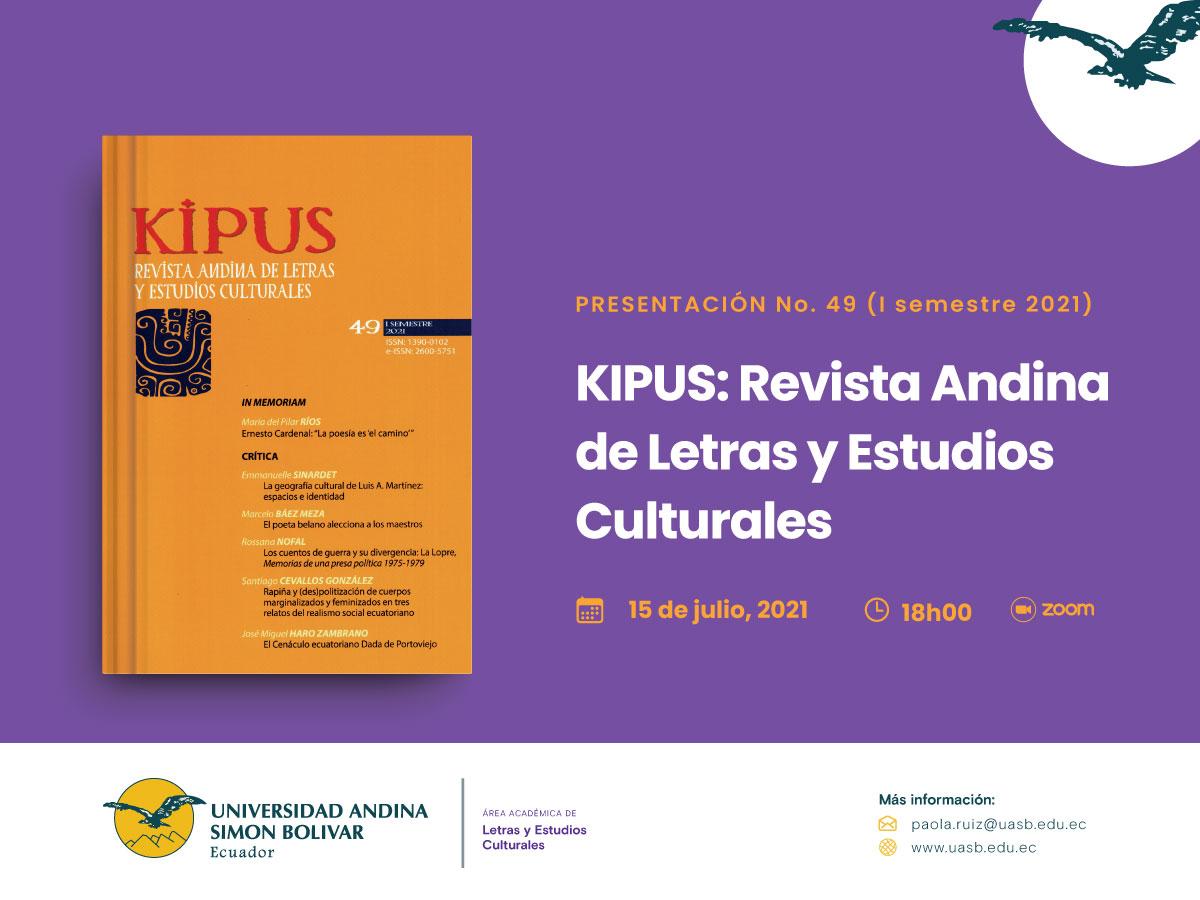 Presentación de la revista Kipus, No. 49
