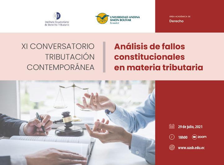 XI Conversatorio Tributación Contemporánea