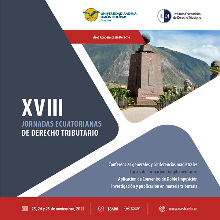 XVIII Jornadas Ecuatorianas de Derecho Tributario