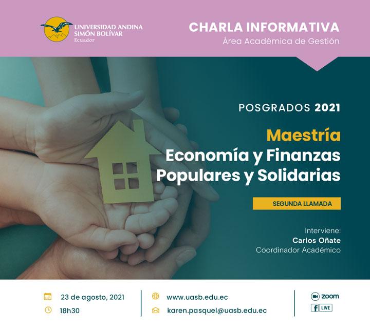 Charla informativa de la Maestría Profesional en Economía y Finanzas Populares y Solidarias