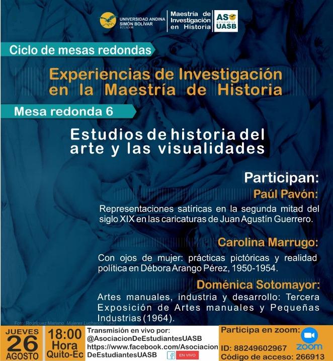 """Mesa redonda """"Estudios de historia del arte y las visualidades"""""""